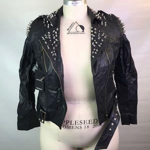 Jackets & Blazers - Studded faux leather jacket 1X BNWT